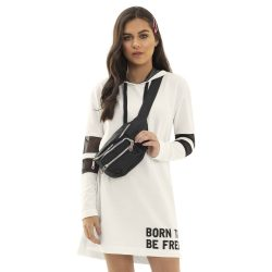 Kapucnis törtfehér ruha