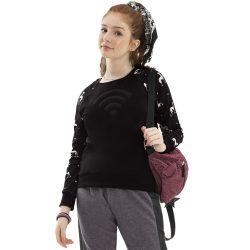 Fekete-kutyás pulóver