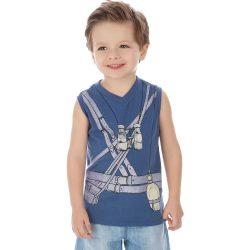 Távcsöves kék trikó