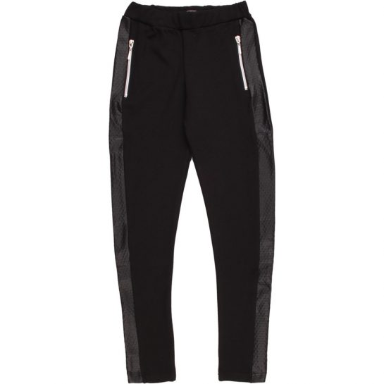 Cipzáros fekete leggings