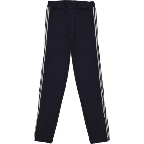 Ezüstcsíkos kék leggings