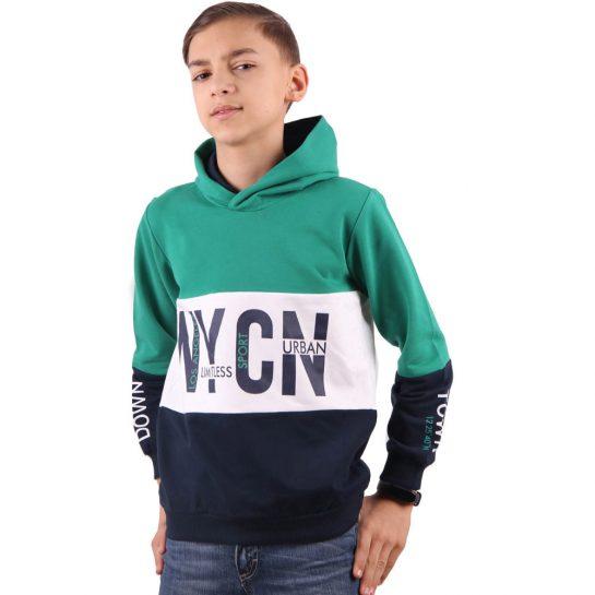 NYCN zöld-kék pulóver