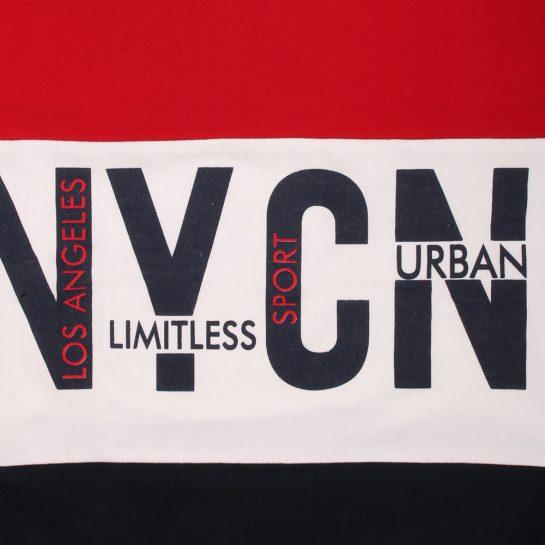 NYCN piros-kék pulóver