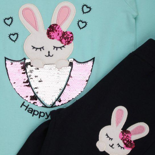 Happy Rabbit kék szett