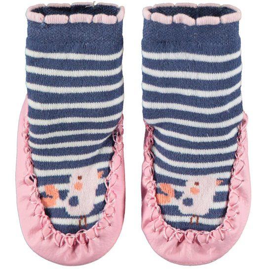 Madárkás bőrtalpú zokni
