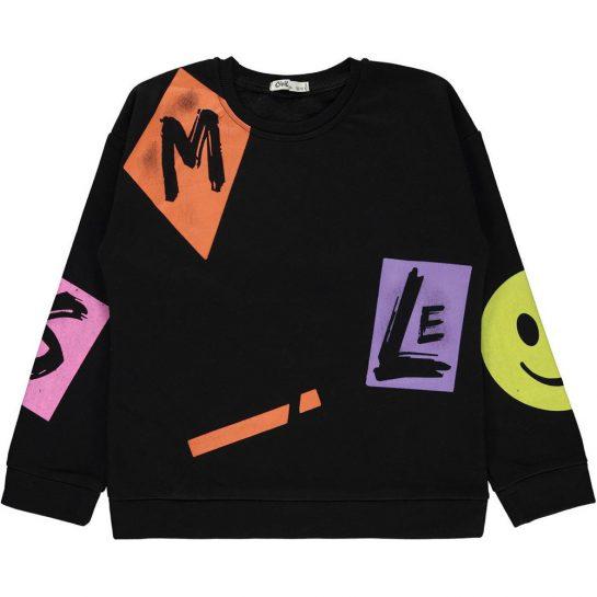 Smile fekete pulóver