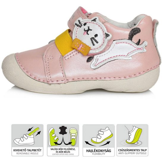 Cicás rózsaszín cipő