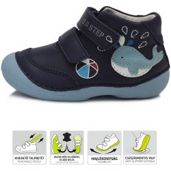 Bálnás sötétkék cipő