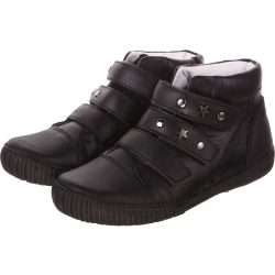 3 pántos fekete cipő