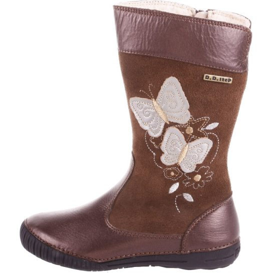 Pillangós bronz-barna bélelt csizma