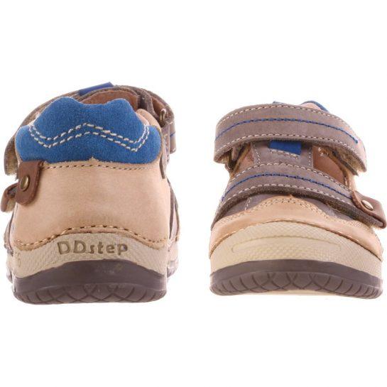 Drapp-kék-bézs félcipő