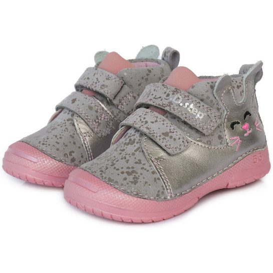 Nyuszis ezüst-szürke cipő