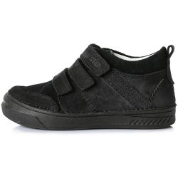 Fekete bőr alkalmi cipő