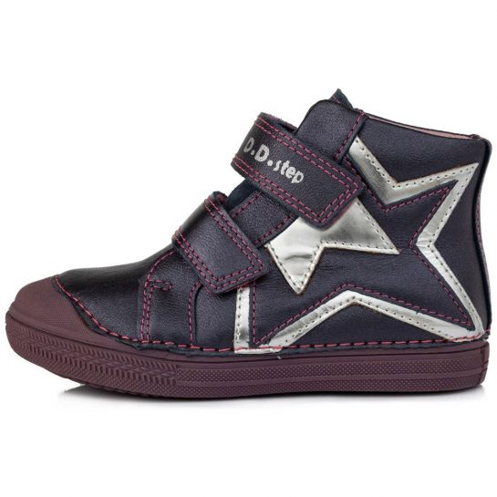 Csillagos lila cipő
