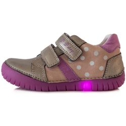 Pöttyös ezüstös LED fényű cipő