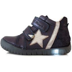 Csillagos lila LED fényű cipő