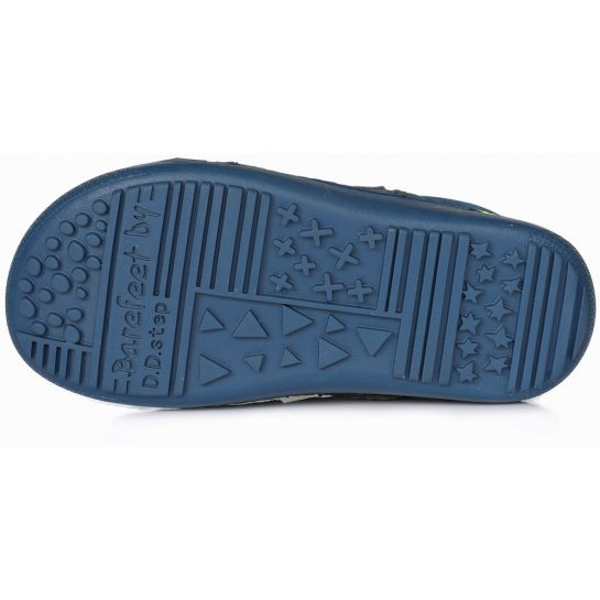 Sötétkék-lime cipő