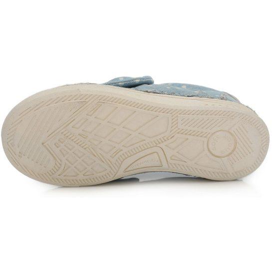 Pöttyös farmerkék vászoncipő