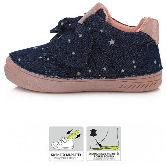 Csillagos farmerkék vászoncipő
