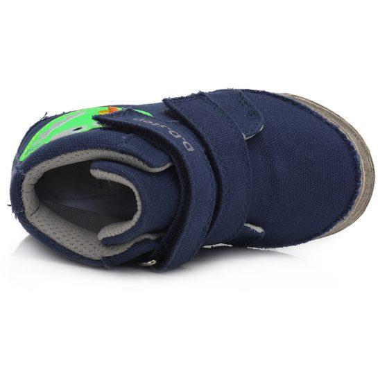 Szörnyes kék vászoncipő