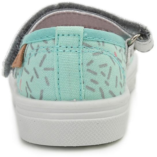 Menta-ezüst vászoncipő