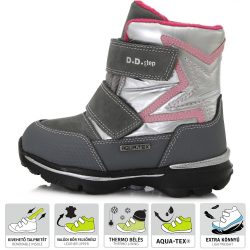 Ezüst-szürke Aqua-tex bélelt cipő