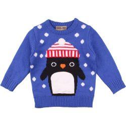 Pingvines kék pulóver