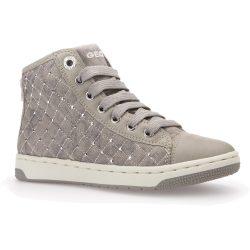 Strasszos steppelt bézs cipő