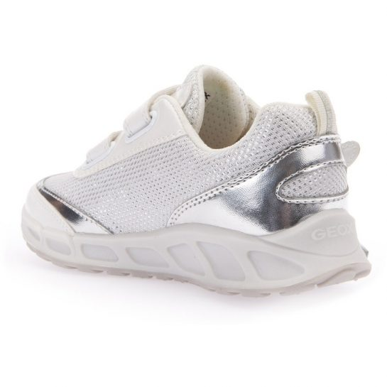 Ezüst-szárnyas fehér villogó cipő