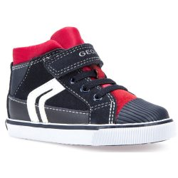Sötétkék-piros cipő