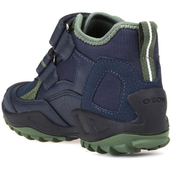 Sötétkék-olívazöld cipő