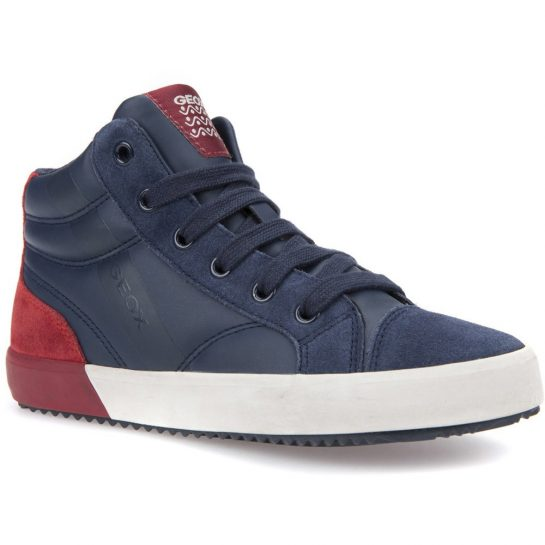 Éjkék-piros cipő
