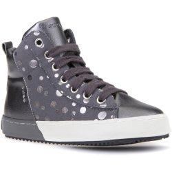 Pöttyös ónszürke cipő