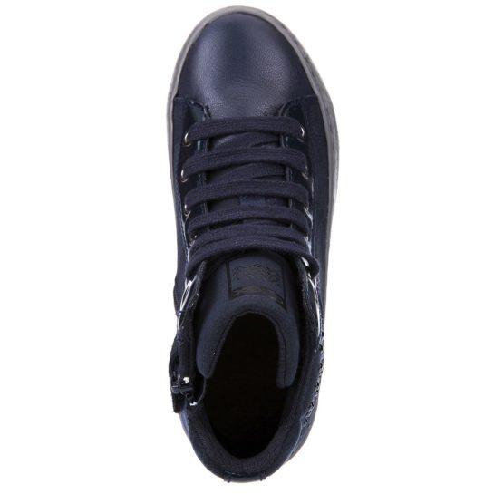 Éjkék strasszos cipő