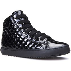 Fekete lakk steppelt cipő