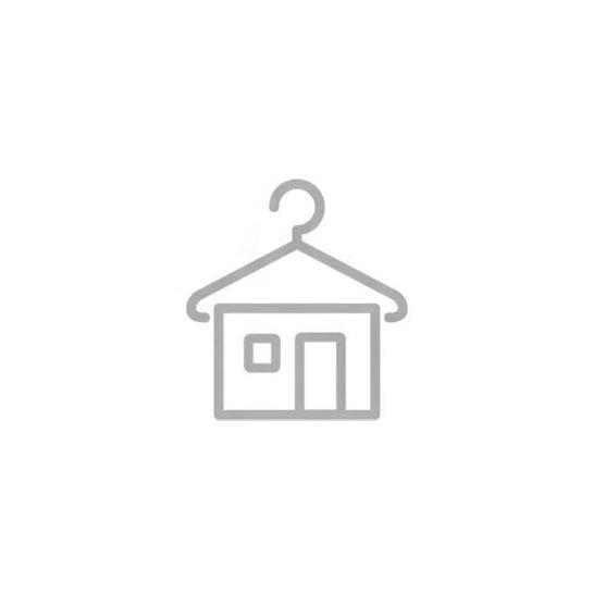 Sötétkék-piros sportcipő