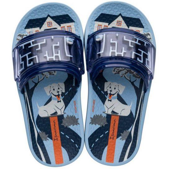 Ipanema Labirinto Slide Kids kék gyerek papucs