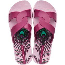 Ipanema Feel Print lila női papucs
