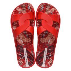 Ipanema Feel Print piros női papucs