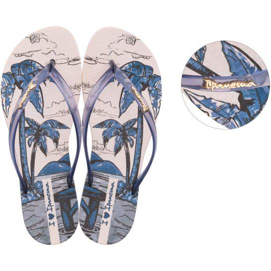 Ipanema Wave Natural pálmafás női papucs