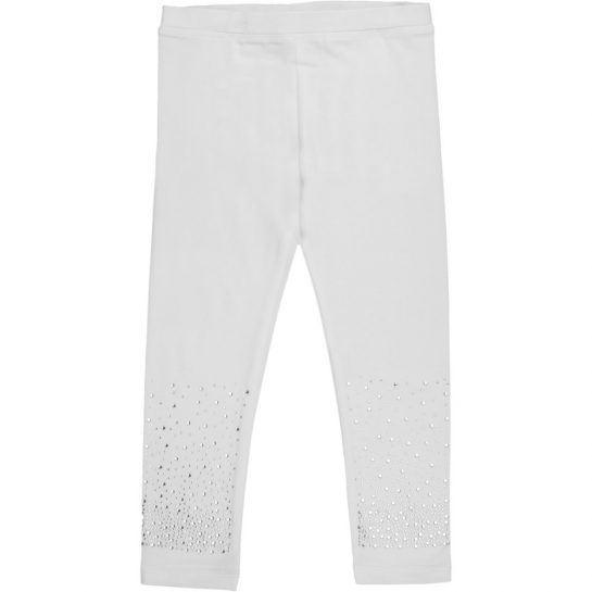 Strasszos fehér leggings