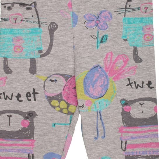 Állatos szürke leggings