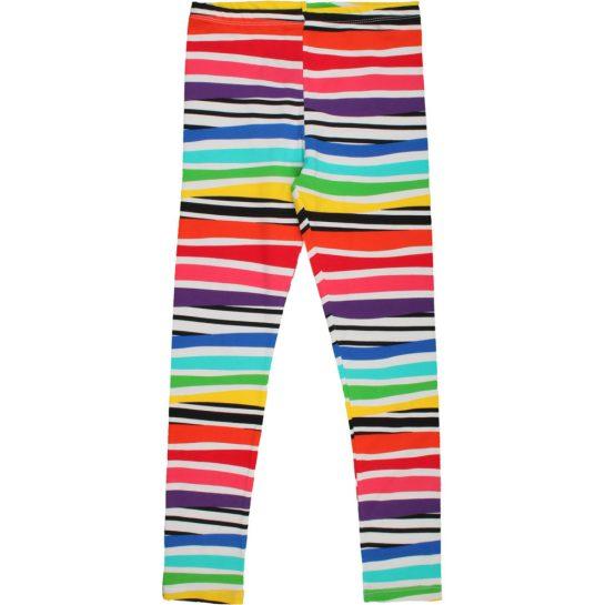 Színescsíkos leggings