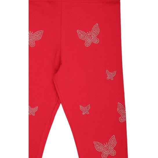 Pillangós piros leggings