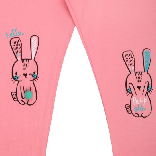 Nyuszis rózsaszín leggings