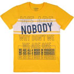 Nobody sárga póló