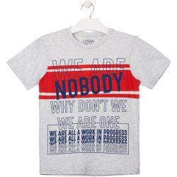 Nobody szürke póló