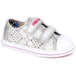 Ezüst áttört cipő