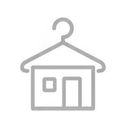 Farmerszürke-piros nyitott cipő