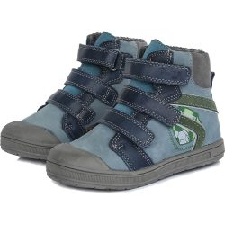 Supinált focis kék bélelt cipő